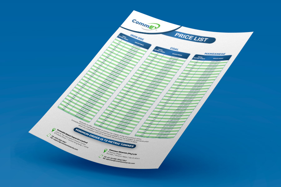 CommEx Price List