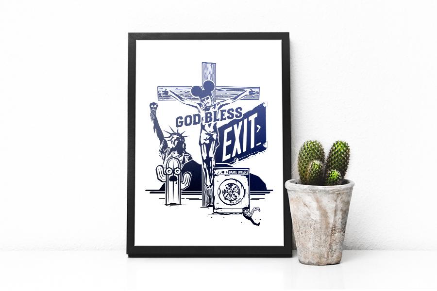 God bless & Exit - Illustration CW